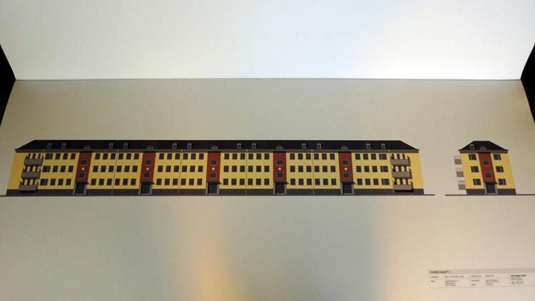 Maler Wedel Hamburg Aussenarbeiten Digitale Farbvorschlaege Aussenfassade rot gelbe Reihe