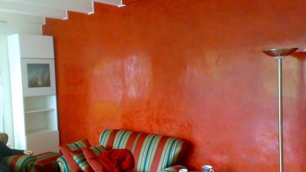 Maler Wedel Hamburg Innenarbeiten Wohnzimmer rot